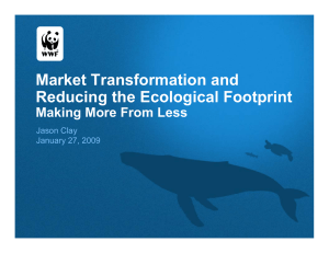 Market Transformation and Reducing the Ecological Footprint Making More From Less Jason Clay