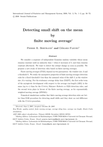 Detecting small shift on the mean by finite moving average ∗