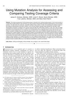 Using Mutation Analysis for Assessing and Comparing Testing Coverage Criteria