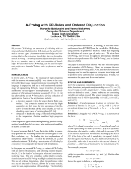 A-Prolog with CR-Rules and Ordered Disjunction