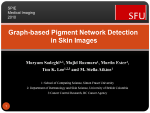 Graph-based Pigment Network Detection in Skin Images Maryam Sadeghi , Majid Razmara