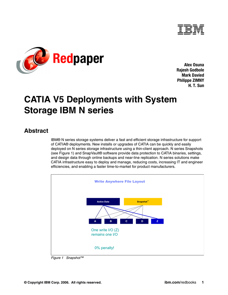 Red paper CATIA V5 Deployments with System Storage IBM N series