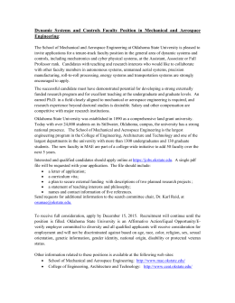 Dynamic Systems and Controls  Faculty Position  in Mechanical... Engineering
