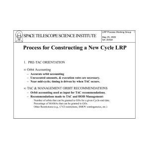 Process for Constructing a New Cycle LRP SPACE TELESCOPE SCIENCE INSTITUTE