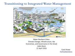 Transitioning to Integrated Water Management