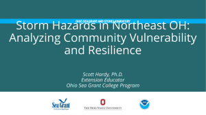 Storm Hazards in Northeast OH: Analyzing Community Vulnerability and Resilience
