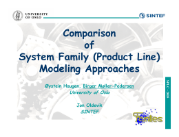 Comparison of System Family (Product Line) Modeling Approaches