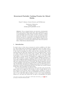Structured Partially Caching Proxies for Mixed Media al Halvorsen
