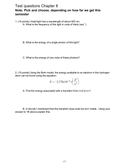 Test questions Chapter 8  semester
