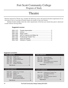 Theatre Fort Scott Community College Program of Study