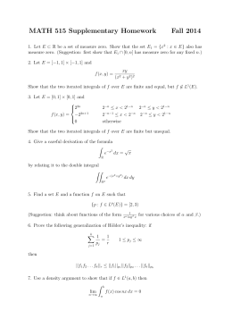 MATH 515 Supplementary Homework Fall 2014