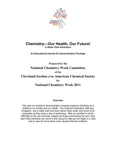 —Our Health, Our Future! Chemistry