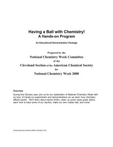 Having a Ball with Chemistry! A Hands-on Program