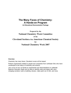 The Many Faces of Chemistry: A Hands-on Program