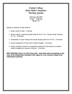 Chabot College Basic Skills Committee Meeting Agenda