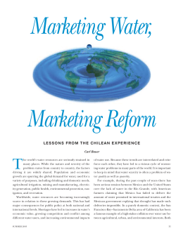 Marketing Water, Marketing Reform T