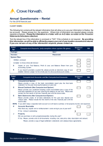 – Rental Annual  Questionnaire