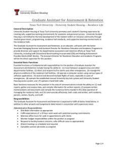 Graduate Assistant for Assessment & Retention