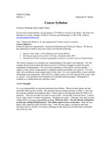 Course Syllabus Chabot College History 7