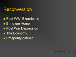 Reconversion Post WWI Experience Bring em Home Post War Depression