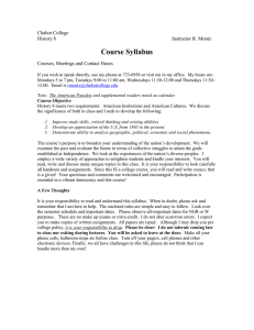 Course Syllabus Chabot College History 8