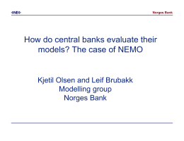 How do central banks evaluate their models? The case of NEMO