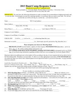 2013 Band Camp Response Form