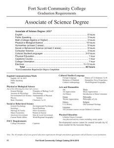 Associate of Science Degree Fort Scott Community College Graduation Requirements