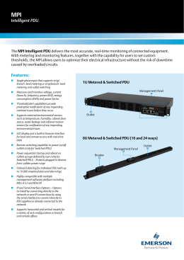 Emerson PM3003H-401 Rack PDU Driver Download
