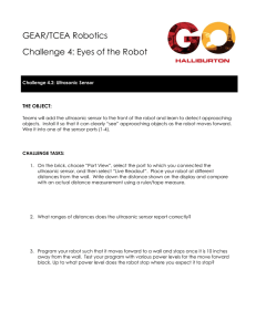 GEAR/TCEA Robotics Challenge 4: Eyes of the Robot THE OBJECT: