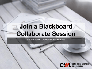 Join a Blackboard Collaborate Session Blackboard Tutorial for Instructors