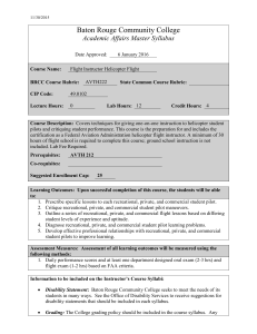 Baton Rouge Community College Academic Affairs Master Syllabus