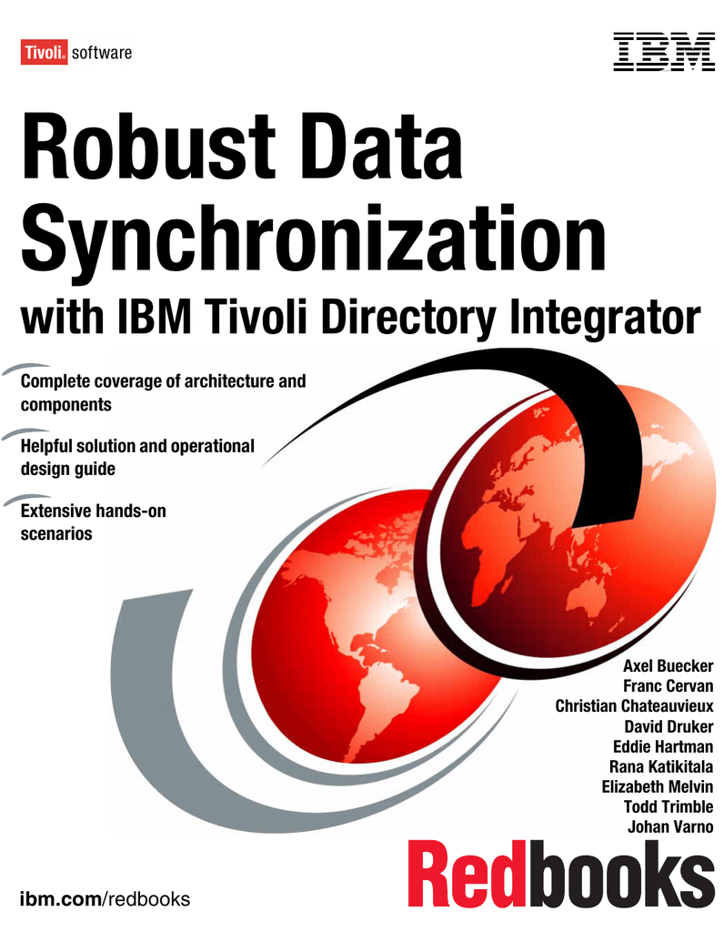 Robust data synchronization with ibm tivoli directory integrator front cover