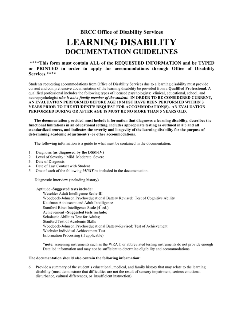 learning disability test