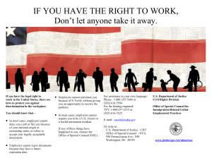 IF YOU HAVE THE RIGHT TO WORK, 