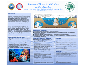 Impacts of Ocean Acidification On Coral Ecology Dr. Julie Wolin; Ben Conklin