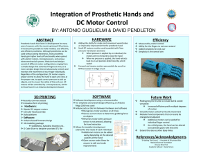 Integration of Prosthetic Hands and DC Motor Control