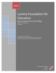 Lumina Foundation for Education 2010