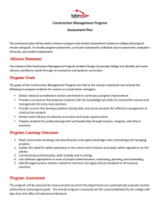 Construction	Management	Program Assessment	Plan