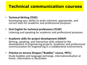 Technical communication courses
