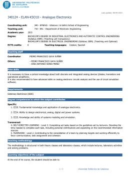 340124 - ELAN-K5O10 - Analogue Electronics
