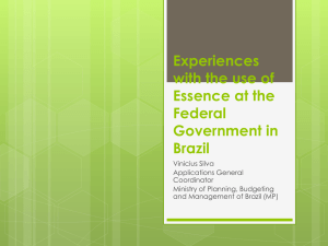 Experiences with the use of Essence at the Federal
