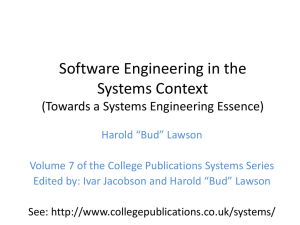 Software Engineering in the Systems Context (Towards a Systems Engineering Essence)
