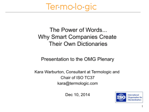 The Power of Words... Why Smart Companies Create Their Own Dictionaries