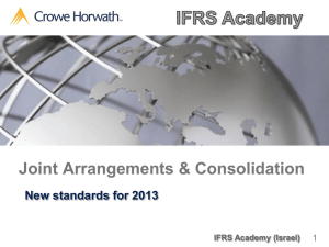 Joint Arrangements & Consolidation  New standards for 2013 1