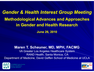 Gender & Health Interest Group Meeting