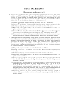 STAT 495, Fall 2003 Homework Assignment #4