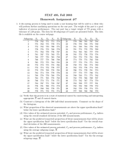 STAT 495, Fall 2003 Homework Assignment #7