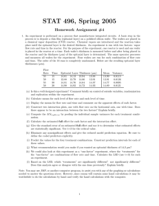 STAT 496, Spring 2005 Homework Assignment #4