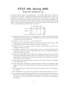 STAT 496, Spring 2005 Homework Assignment #6